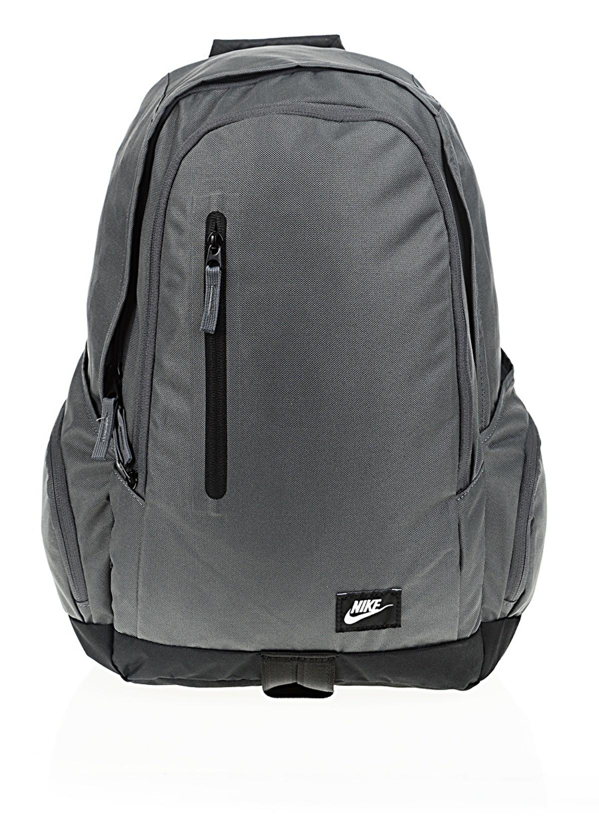 Nike Erkek Sırt Çantası Dark Grey Black White  9631c0a5bb1fe